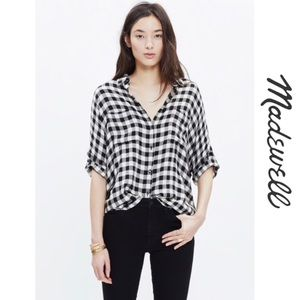 🆕{Madewell} Courier Flannel Top in Buffalo Check